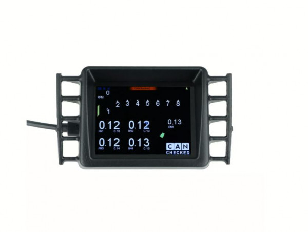 """VW Golf 5 MFD28 - 2.8"""" Display mit OBD II Adapter CANchecked"""