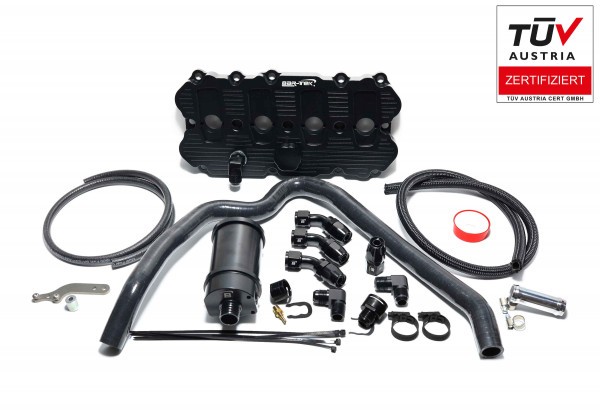 2.0L TFSI EA113 Oil Catchtank Kit with Billet Valve Cover with ECE